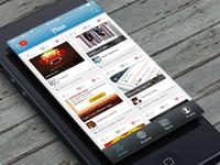 iOS app UI for Pinn