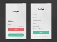 Simple Login Signup for Android Light Theme