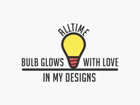 Alltime Bulb Glows with Love in my Designs