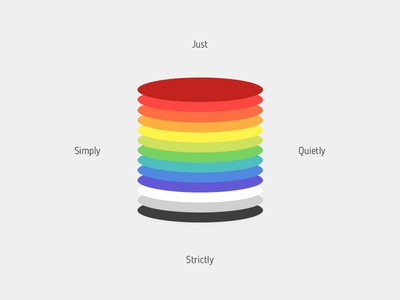 Just Simply Quietly Strictly Colors maroon red orange yellow lime green purple blue violet grey colours colors