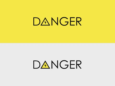 Danger ⚡ font century gothic current electricity logo danger