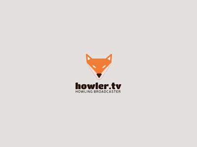 Howler.tv media logo branding brand television vlog animal video broadcasting fox