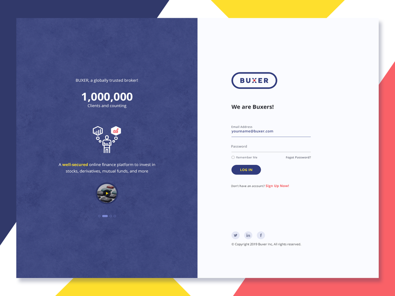Login Page user experience user interface website login product design webdesign