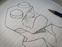 Hell Boy Sketch