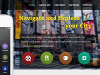 Header : Banner for City Navigator app Website