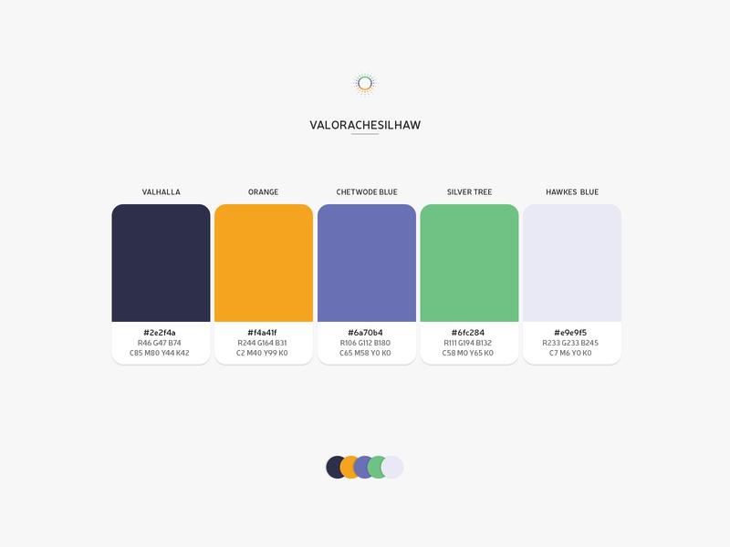 Color Combo - VALORACHESILHAW colorscheme flat color scheme product design theme web design palette color palette color combo colors