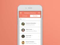 Company Directory app