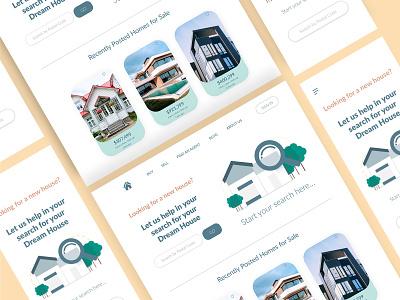 UI CHALLENGE - 003 minimal design realestatewebsite realestate landing page design landingpage ux ui dailyui 003 dailyui