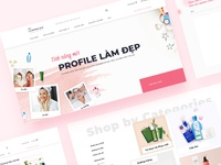 The Charming Box - Ecommerce web design box pinky pink feminine girly vietnam cosmetics ecommerce design ecommerce beauty ui web uiux design
