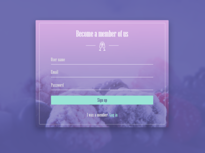 Day1_Sign up up sign dailyui