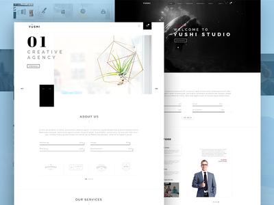 Yushi Theme Ver1 creative agency template web