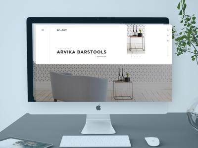 Furniture website concept furniture design web
