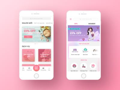 Spa IOS App Concept design mobile app spa ui