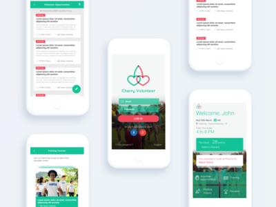 Volunteer UI app ui design mobile app volunteer social