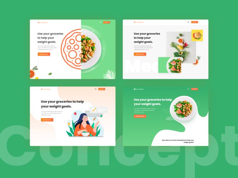 Happy Meal diet healthyfood healthy ui landing design web uiux