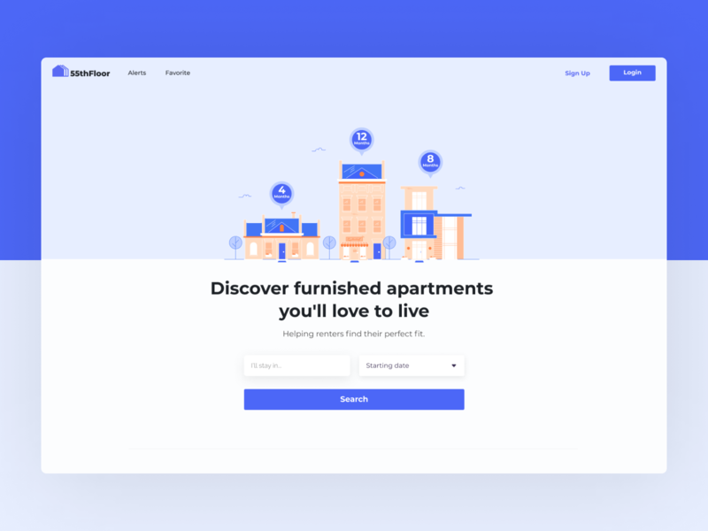 Real Estate LP real estate design app ui uiux web