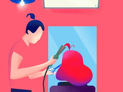 Stylist colors noise illustration dresser stylist hair