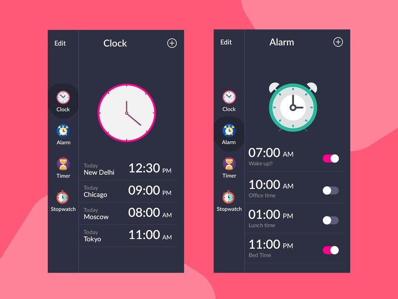 Clock App UI