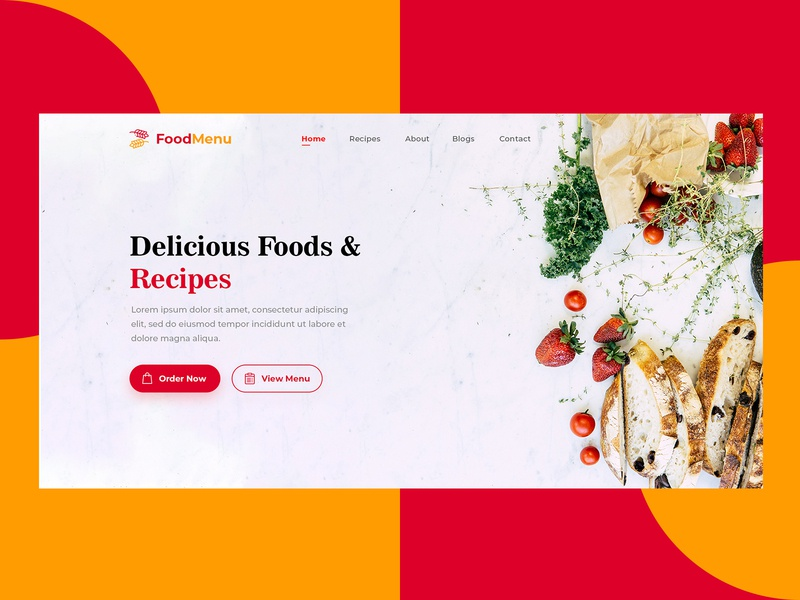 Food Home Landing Page website concept website design website illustration ux ui mobile app design mobile app mobile logo icon design app