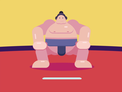 Sumo Wrestler Animation animation 2d animation after effects character animation motiongraphics animated gif motion design loop animation animation sumowrestler