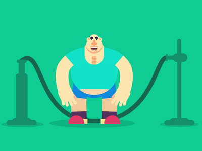 Jumpng Ropes funny character fat workout animator loop animation animated character animation animation after effects animated gif motion design animation 2d motiongraphics animation
