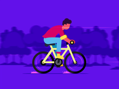 Bicycle Rider bicycle days bicycle cycling animator animated loop animation character animation animation after effects animation 2d animated gif motiongraphics motion design animation