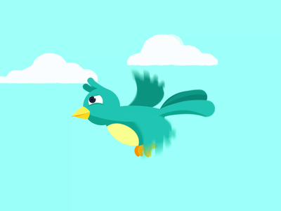 Bird Flying Animation bird flying bird animation bird illustration bird animated animator loop animation character animation animation after effects animation 2d animated gif motiongraphics motion design animation