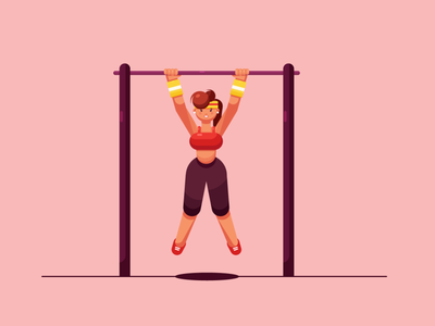Pull-ups Animation after effects pullup animation 2d animated gif character animation animation after effects motiongraphics motion design animation