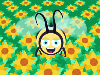 Flying Bee fake 3d bee flying bee animation illustration character animation animation 2d animated gif graphic design motion graphics animation after effects motiongraphics motion design animation