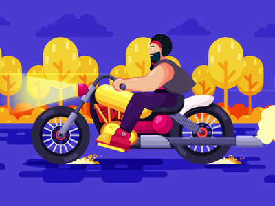 Motorcycle Animation motorcycle motion graphics graphic design illustration design character animation animation 2d animated gif animation after effects motiongraphics motion design animation