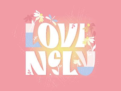 Lovingly design vector illustration lettering