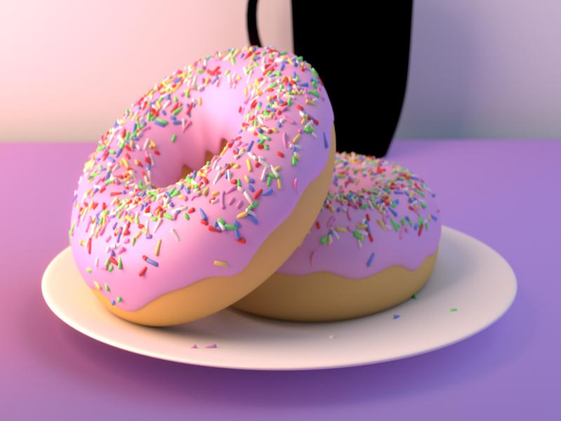 doughnut blender3d blender 3d