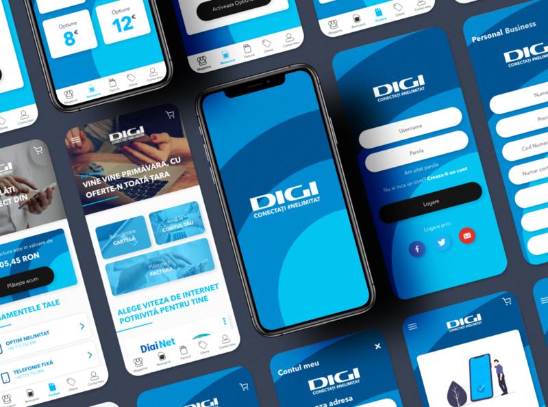 DigiRomania concept redesign app adobexd uxui mobile app ux ui design