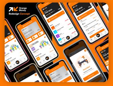 Orange Money Redesign Concept application illustration banking app financial bank banking flat web uxui ux ui mobile design app adobexd