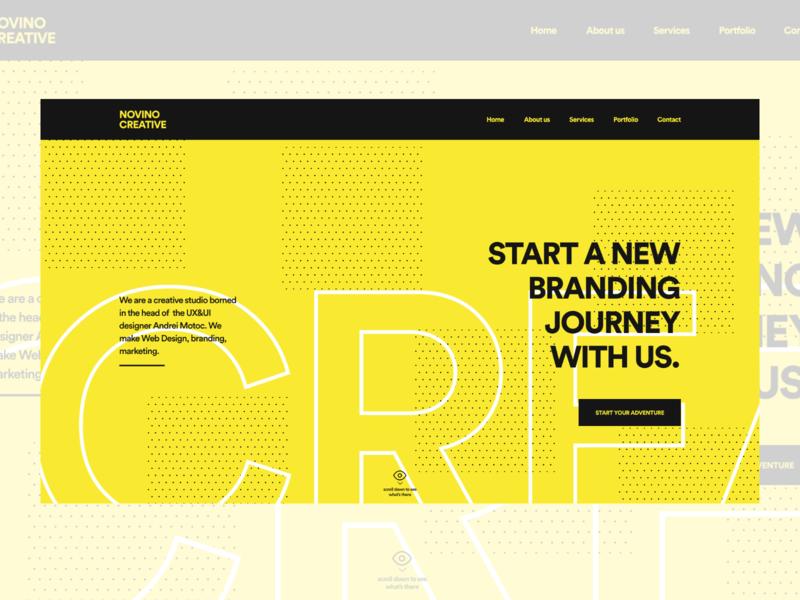 Concept creative agency landing page creative design prototype agency creative adobexd design uxui ui ux