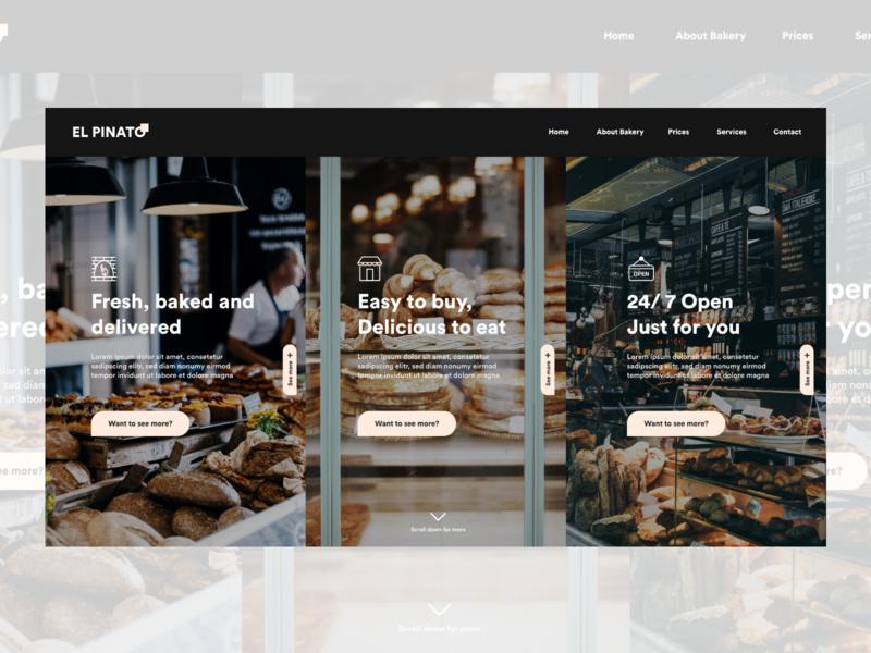 Bakery landing page store bakery design adobexd uxui ux ui