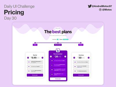 Daily UI #30 Pricing plans princing dailyuichallenge interface ui design app dailyui figma uxui ux design ui
