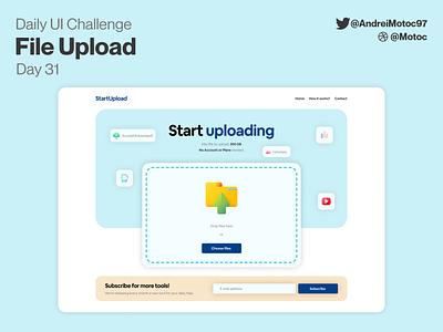 Daily UI #30 File Upload landing page upload file upload landing homepage interface ui design app dailyui figma uxui ux design ui