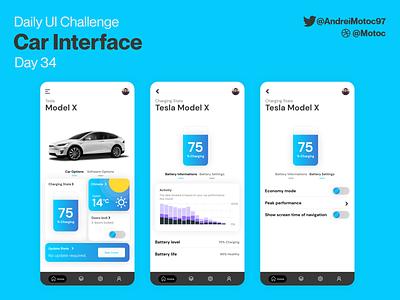 Daily UI #34 Car interface dashboard tesla car interface interface car ui design mobile app dailyui figma uxui ux design ui