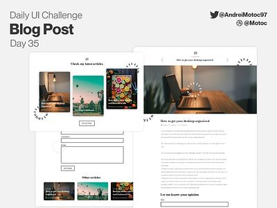 Daily UI #35  Blog Post blogging blog blog design blog post homepage interface ui design dailyui figma uxui ux design ui