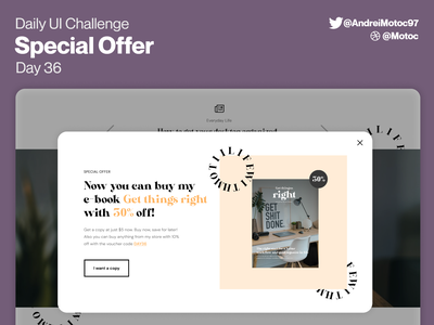 Daily UI #36 Special Offer pop up popup offer special offer homepage dailyuichallenge ui design interface dailyui figma uxui ux design ui