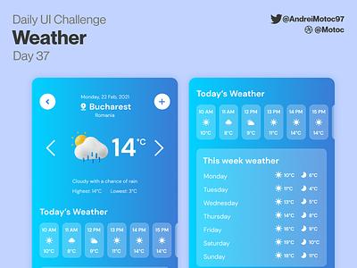 Daily UI #37 Weather day37 weather app mobile app calendar dailyuichallenge ui design mobile app dailyui figma uxui ux design ui