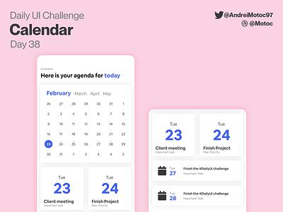 Daily UI #38 Calendar day38 agenda calendar design tasks task calendar dailyuichallenge ui design mobile app dailyui figma uxui ux design ui