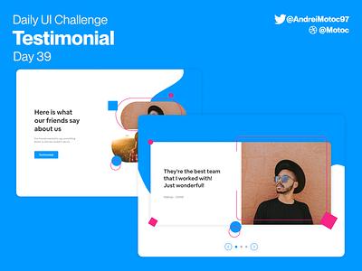 Daily UI #39 Testimonial day39 opinion testimonial uxdesign ui design dailyuichallenge interface dailyui figma uxui ux design ui