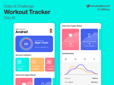 Daily UI #41 Workout Tracker interface design apple watch health workout trainer workout tracker workout interface dailyuichallenge mobile ui design app dailyui figma uxui ux design ui