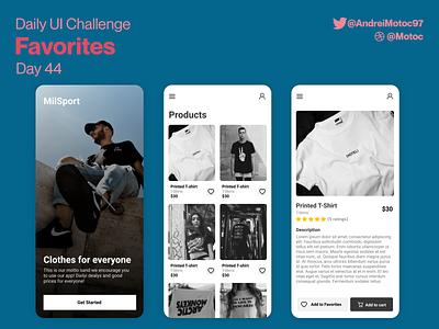 Daily UI #44 Favorites add to favorites button day44 favorites eccomerce shop dailyuichallenge mobile ui design app dailyui figma uxui ux design ui