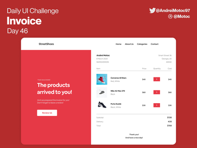 Daily UI #46 Invoice price products shop receipt invoice dailyuichallenge mobile ui design app dailyui figma uxui ux design ui