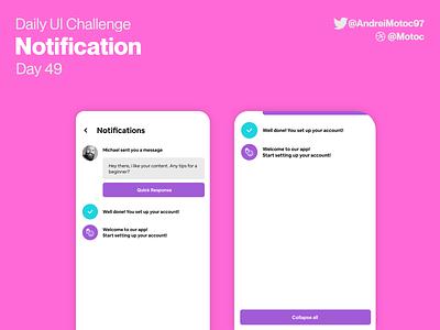 Daily UI #49 Notification notification dailyuichallenge mobile ui design app dailyui figma uxui ux design ui