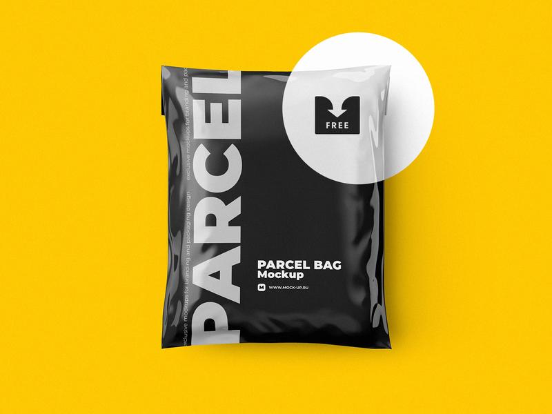 Freebie: Shipping Bag Mockup pixelbuddha freebie psd download plastic delivery mailing shipping mockup bag parcel free