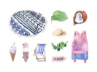 Forever Summer Watercolor Set
